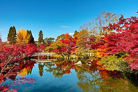Foto de Japanese garden of Eikando Zenrinji temple in autumn, Kyoto, Japan. - Imagen libre de derechos