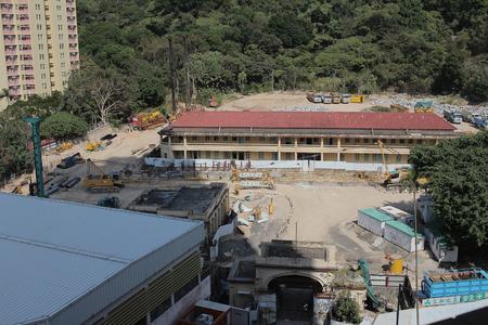 Photo pour the construction site at Clear Water Bay Rd - image libre de droit