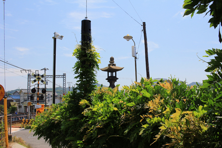 the city view of Hiroshima at train