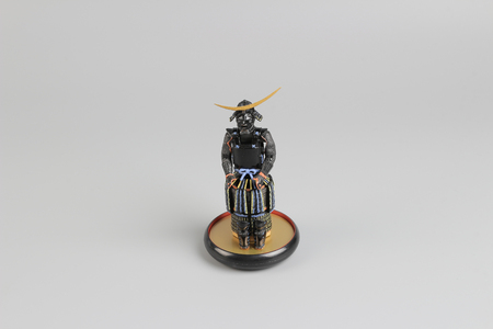 the figure off historic japnese samurai armor