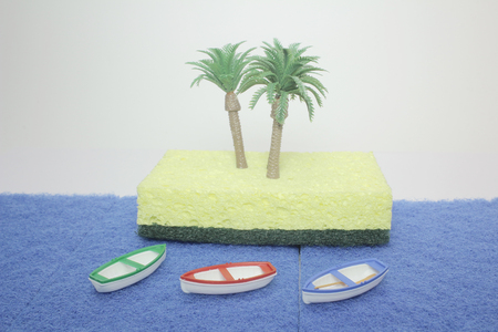 figure of boat on the sea