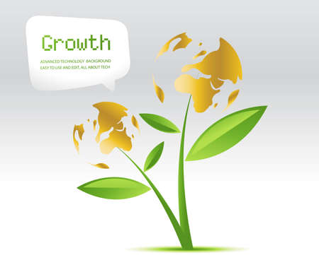 Plant Growth Background, theme of growth  .