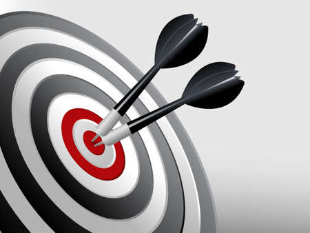 Photo for Success Target, Dart on the target, Successful and focus concept.  - Royalty Free Image