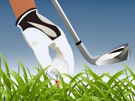 Illustration pour  illustration of Golf Sport concept. - image libre de droit