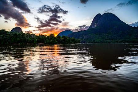 Photo pour Guainía, Colombia. The big and amazing mountain of Mavicure, Pajarito (Little Bird) - image libre de droit