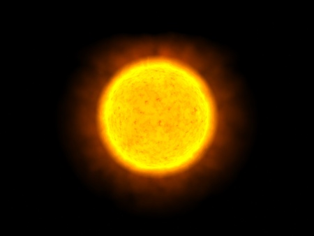 The Sun alone in space