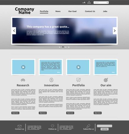 Illustration for Modern website template for business, vector illustration - Royalty Free Image