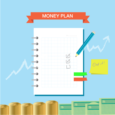 Personal finance plan note infographic theme