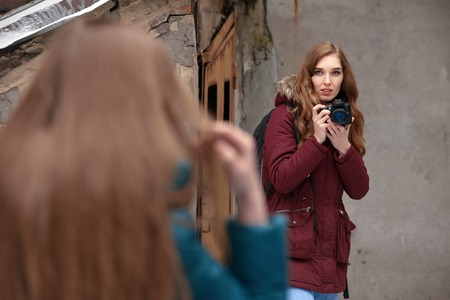 photographer with girl model