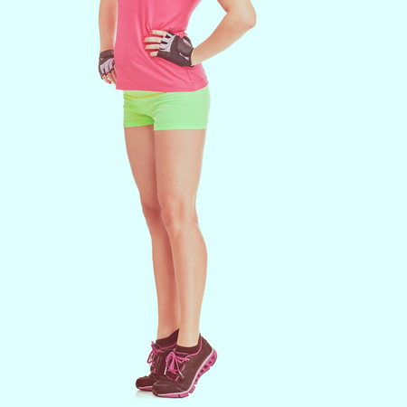Photo for Athletic womans legs - Royalty Free Image