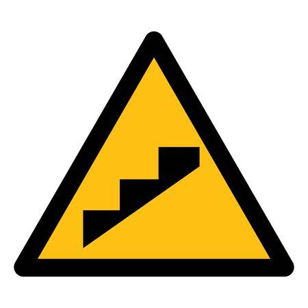 Illustration pour Beware Slope Step Symbol Isolate On White Background,Vector Illustration - image libre de droit