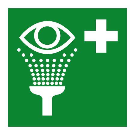 Illustration pour Eye Wash Station Symbol Isolate On White Background,Vector Illustration EPS.10  - image libre de droit