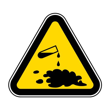 Illustration for Beware Chemical Spill Symbol Sign Isolate On White Background,Vector Illustration EPS.10  - Royalty Free Image