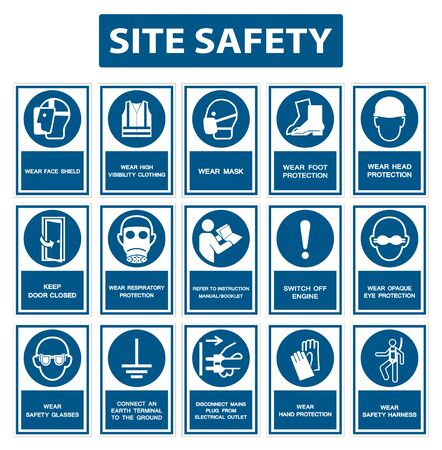 Illustration for Safety PPE Must Be Worn Sign Isolate On White Background,Vector Illustration EPS.10 - Royalty Free Image