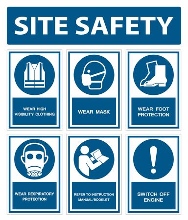 Illustration pour Safety PPE Must Be Worn Sign Isolate On White Background,Vector Illustration EPS.10 - image libre de droit