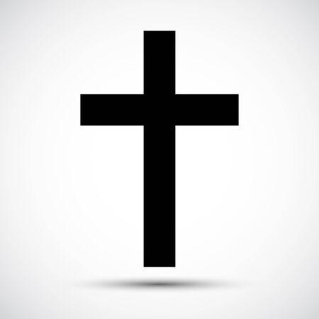 Illustration pour Christian Cross Icon Symbol Sign Isolate on White Background,Vector Illustration EPS.10  - image libre de droit