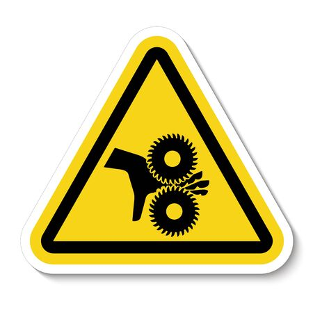 Illustration pour Cutting of Fingers Rotating Blades Symbol Sign, Vector Illustration, Isolate On White Background Label .EPS10  - image libre de droit