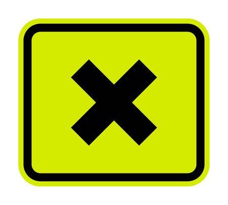 Illustration pour Beware Irritant Sign Isolate On White Background - image libre de droit