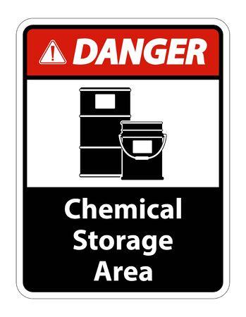 Illustration pour Danger Chemical Storage Symbol Sign Isolate on transparent Background,Vector Illustration  - image libre de droit