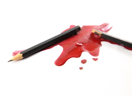 A pencil and matching blood