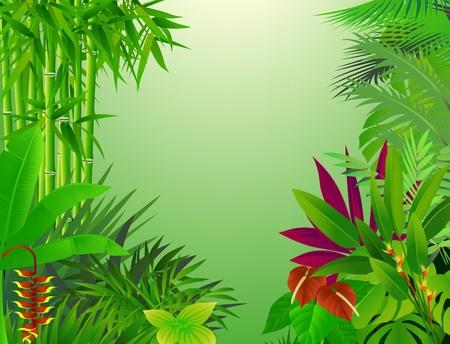 Illustration pour beautiful forest background - image libre de droit