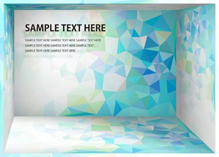 Ilustración de Cubism background Bright blue and yellow depth space - Imagen libre de derechos