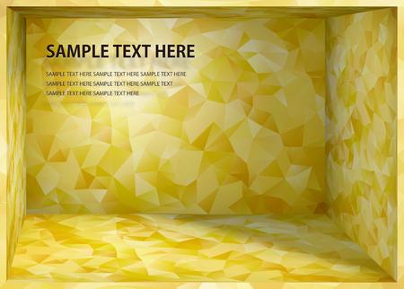 Illustration pour Cubism background  Japanese style gold depth space - image libre de droit