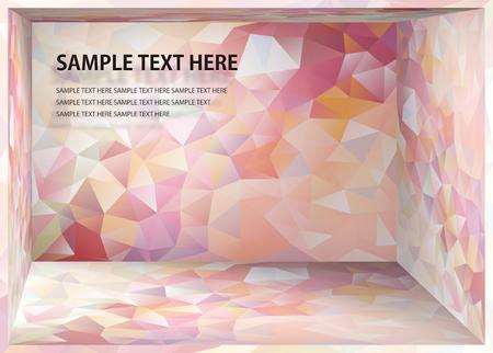 Illustration pour Cubism background Pale red of flow depth space - image libre de droit