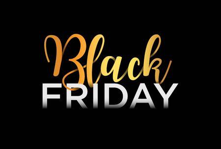 Illustration pour Black Friday Sale Banner, Lettering design, Vector Illustration - image libre de droit