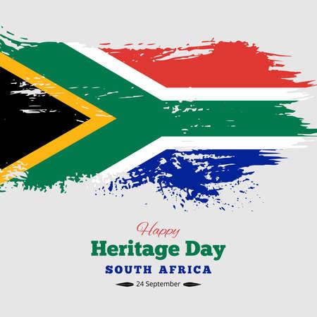 Illustration pour Happy Heritage Day South Africa Background, Vector - image libre de droit