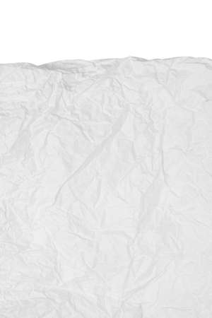 Photo pour Close up texture of crumpled paper isolated on white background - image libre de droit