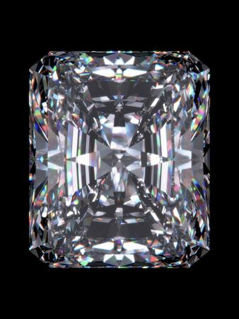 Diamond radiant cut (Diamond series; isolated 3d jewellery series)