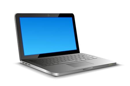 Illustration pour Laptop on white background with copyspase - image libre de droit