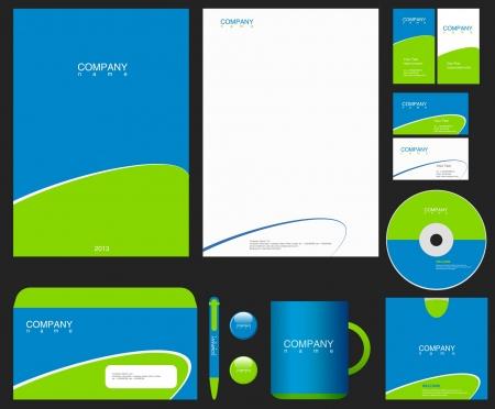 Foto de Corporate Identity template. Place your Logo. Business theme. Editable. - Imagen libre de derechos