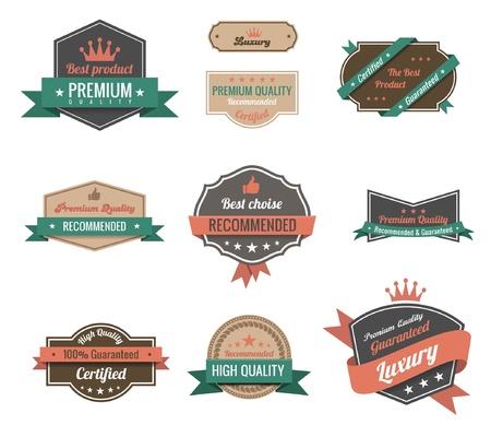 Vintage Labels set. Luxury &amp, Premium Logo Vintage design