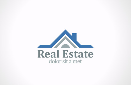 Real Estate vector logo design  House abstract concept icon Realty construction architecture symbol