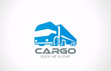 Illustration pour Cargo Truck vector logo design  Delivery service concept icon Transportation Business  - image libre de droit