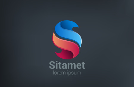 Business Corporate abstract vector logo design. Letter S creative concept icon.