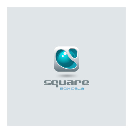 Illustration pour Business Square abstract Logo futuristic media web technology design vector template. Sci-fi creative hitech style electronic box logotype icon. - image libre de droit