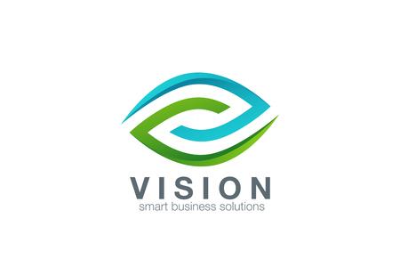Vektor für Eye Logo abstract design vector template. Business Technology vision logotype icon. Clinic concept. - Lizenzfreies Bild