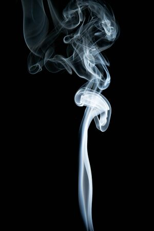 Foto de Abstract shape of white smoke on black background. - Imagen libre de derechos