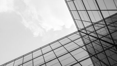 Photo pour abstract of architecture of geometry at glass window. - image libre de droit