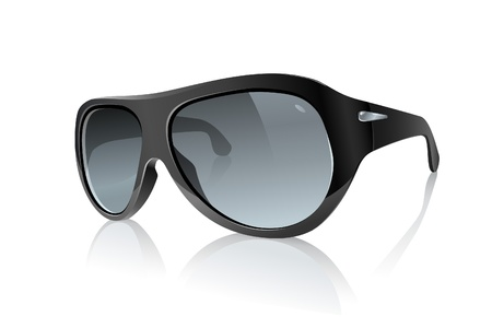 Cool Photo Realistic Black Sunglasses  Raster Version