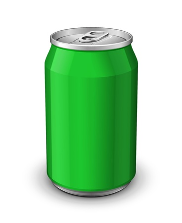 Green Aluminum Can: