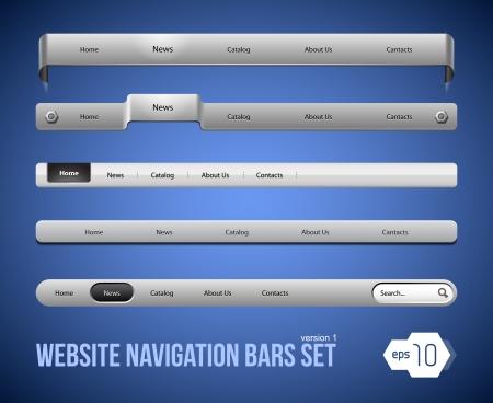 Web Elements Navigation Bar Set Version 1