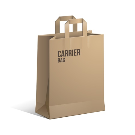 Carrier Paper Bag Brown Empty