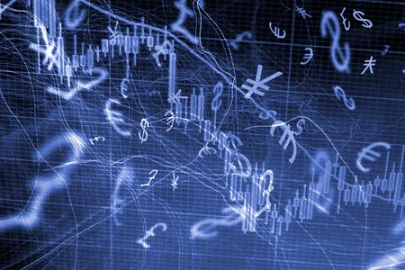 Foto de Forex trading background concept with currency symbols - Imagen libre de derechos
