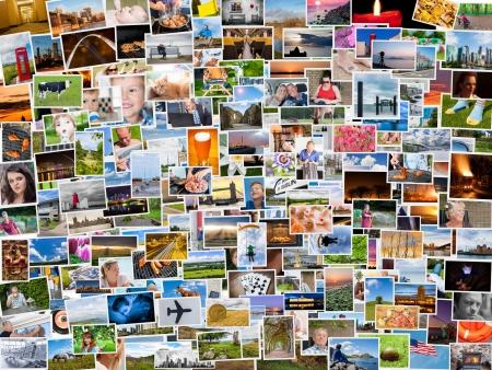Foto de Collage of photos of a persons life in 4x3 ratio - Imagen libre de derechos
