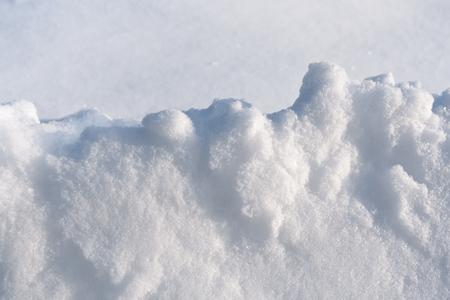 Snowdrift freshly fallen powder white snow