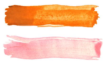Photo pour two watercolor strokes isolated on white - image libre de droit